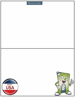 500 Half Sheet Adhesive Shipping Labels 8.5x 5.5 Self Stick Ebay Paypal Amazon
