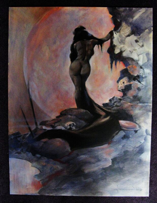 MIKE HOFFMAN PAINTING FANTASY NUDE