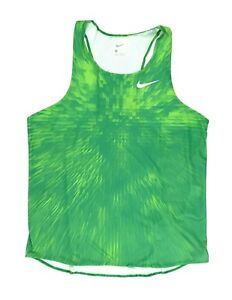 New Nike Men's Large Digital Race Day Elite Running Singlet Track Green 835880