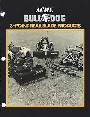 Equipment Brochure - Acme - Bulldog - 3-point Rear Blade Products - 1983 E3864