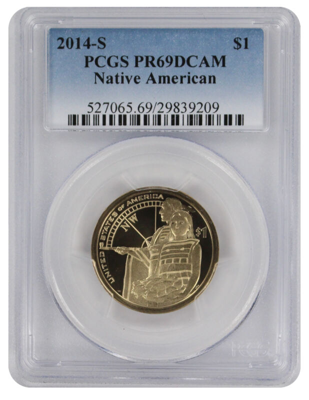 2014-S Sacagawea Native American Dollar PR69DCAM PCGS Proof 69 Deep Cameo