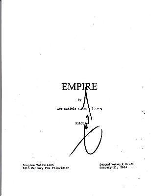 TERRENCE HOWARD SIGNED EMPIRE PILOT EPISODE SCRIPT 64 PAGE AUTOGRAPH COA FOX (Empire Pilot Episode)
