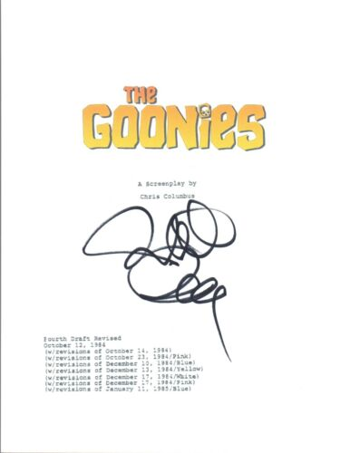 Richard Donner Signed Autographed THE GOONIES Full Movie Script COA