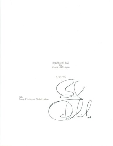 Bob Odenkirk Signed Autographed BREAKING BAD Pilot Episode Script COA