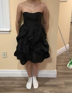 Le chateau size 4 black cocktail bubble dress best offer
