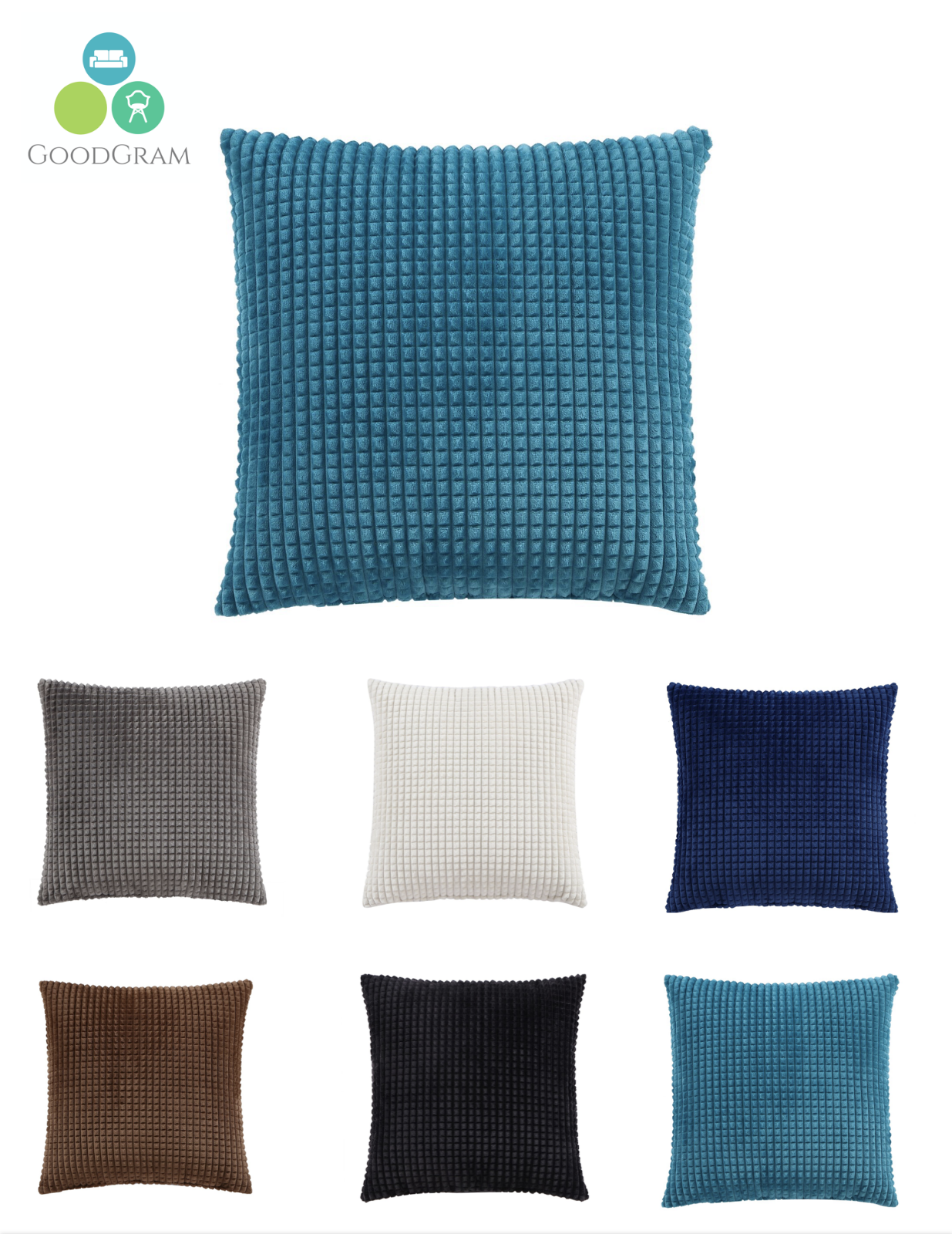Ultra Plush Over Sized & Over Filled Tufted Throw Pillows -