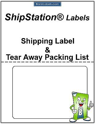 100 Laser Ink Jet Labels For Shipstation With Tear Off Receipt Packing List