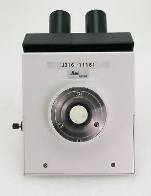 11161 Leica Trinocular 3-way Viewing Head For Dmlb Microscope 551505