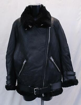 Acne Studios Women's Velocite Leather Jacket HD3 Black Size 38 (US:4) $2700