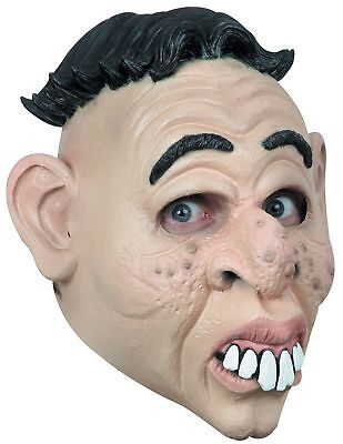 Funny Doofus Adult Latex Halloween Mask Clueless Nitwit Buck Teeth Nimrod - Clueless Halloween