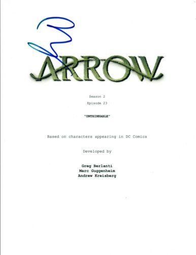 """Paul Blackthorne Signed Autographed ARROW S2 E23 """"Unthinkable"""" Script COA VD"""