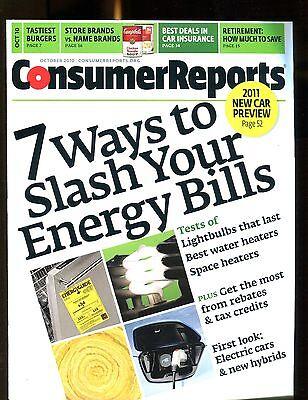 Consumer Reports Magazine October 2010 Energy Bills Ex No Ml 020117Jhe