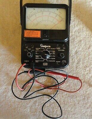 Simpson 260 Series 6 Volt-ohm Milliammeter Multi-meter Shown Testing Ohms Ac