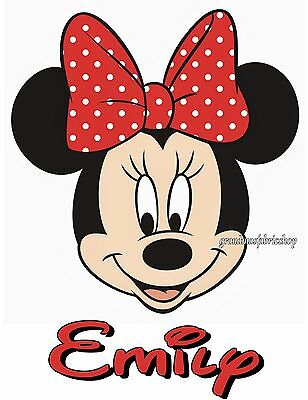NEW Personalized Custom Minnie Mouse t shirt party favor birthday gift Add - Minnie Mouse Custom