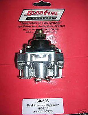 Fuel Pressure Regulator Holley Carburetor Carb Quick Fuel 30-803 4 1/2 - 9 PSI