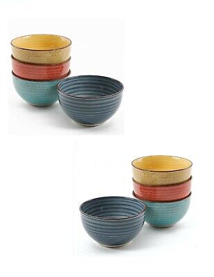 8 Pack Quality Large 5 Inch Ceramic Cereal Soup Pasta Bowls - Bowl Set ()