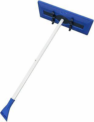 Snow Joe Car Windshield Ice Scraper & Interlocking Foam Brush Durable Broom Tool