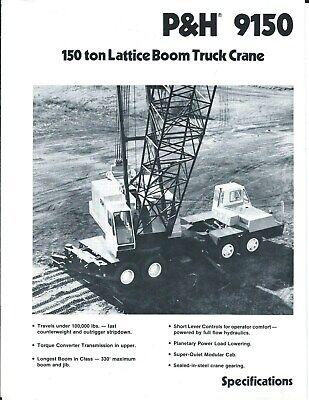 Equipment Brochure - Ph - 9150 - 150 Ton Truck Crane - C1991 E5009