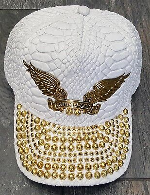 SHED HAT CAP OSFA 100% AUTHENTIC WHITE/GOLD (Robin Hats)