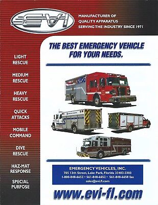 Emergency Vehicle Equipment - Fire Equipment Brochure - EVI Emergency Vehicle - Product Line Overview (DB298)