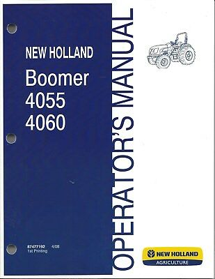 New Holland Boomer 4055 4060 Compact Tractor Operator Manual 87477192