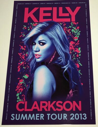 Kelly Clarkson 2013 Summer Tour Concert 12x18 Poster!!! New Mint!!!