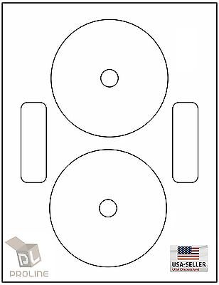 100 Cd Dvd Laser And Ink Jet Labels - Neato Compatible Full Face 50 Sheets