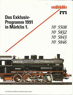 Katalog Märklin 1 Exklusive Progeamm 1991 Nr.5508 5832 5843 5846 Modellbahnen