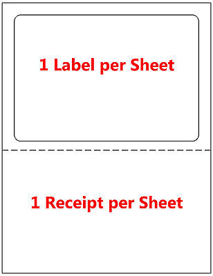 1000 Labels Adhesive Tear Off Paper Receipt. Best For Ebay Paypal Label Ups