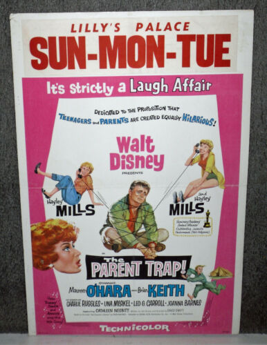 THE PARENT TRAP original 1961 DISNEY movie poster HAYLEY MILLS/MAUREEN O