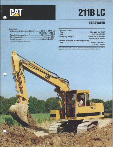 Equipment Brochure - Caterpillar - 211B LC - Excavator - 1990 (E4206)