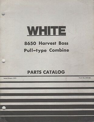 1977 White Farm 8650 Harvest Boss Pull-type Combine Parts Manual 448-080 983