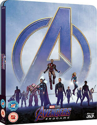 Avengers: Endgame - Zavvi Exclusive 3D Steelbook Includes 2D Blu-ray Ships now