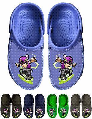 WHOLESALE Lot OF 36 prs Boys Clog w Skater Print Mixed Colors & Sizes,$1.00 a pr
