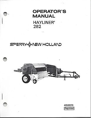 New Holland 282 Square Baler Operator Manual 42028215