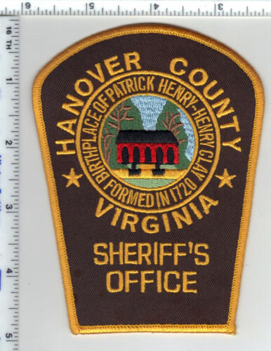 Hanover County Sheriff (Virginia) Shoulder Patch from the 1980