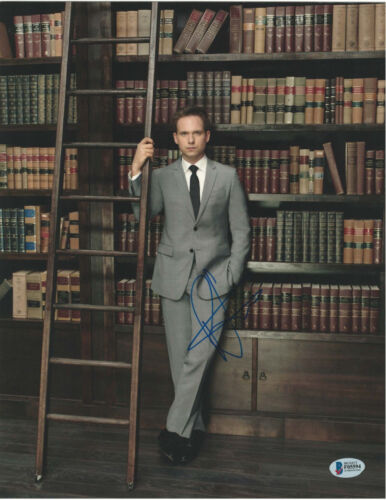 PATRICK J ADAMS SIGNED 11X14 PHOTO SUITS BECKETT BAS AUTOGRAPH AUTO B