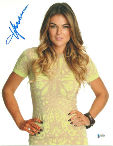 SERINDA SWAN SIGNED 11X14 PHOTO GRACELAND BECKETT BAS AUTOGRAPH AUTO F