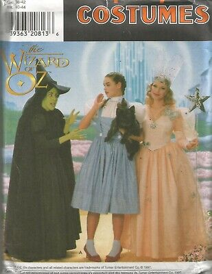 7808 Simplicity Sewing Pattern Wizard of Oz Dorothy Wicked Witch Glinda Costumes](Glinda Wicked Costume)
