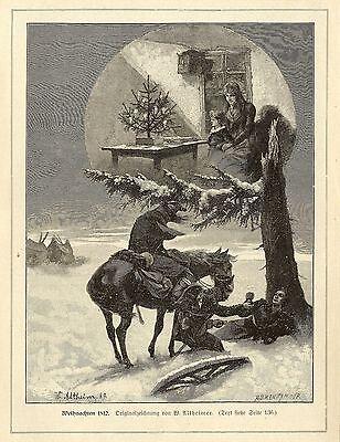 W.Altheimer ( Weihnachten 1812 ) Militärische Graphik von 1899