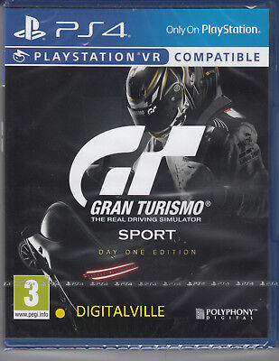 Gran Turismo Sport PS4 Day One Ed Sony PlayStation 4 VR Compatible Sealed Racing