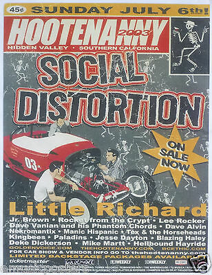 SOCIAL DISTORTION / LITTLE RICHARD 2003 IRVINE, CALIFORNIA CONCERT TOUR POSTER