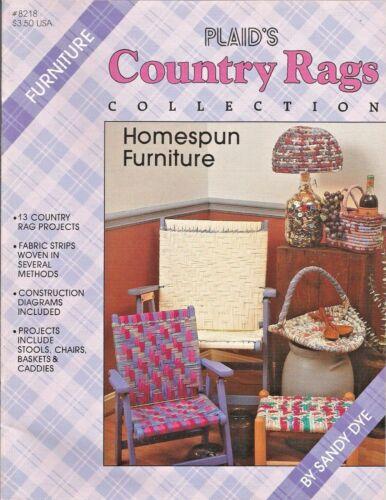 Country Rags Homespun Furniture Rag Weaving Baskets Chairs Stool Plaid Sandy Dye