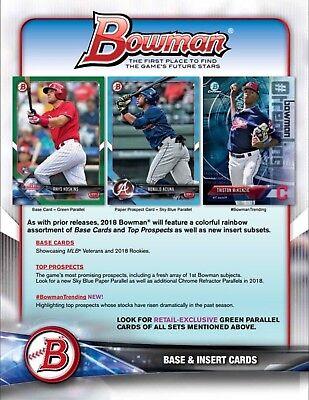 2018 Bowman Baseball Sealed Blaster Box Possible Otani Rookie Card Autographs