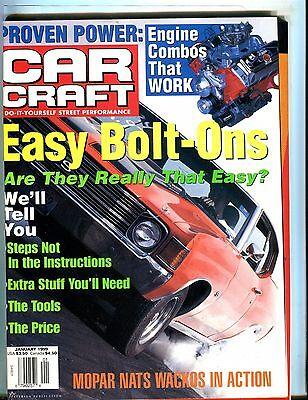 Car Craft Magazine January 1999 Easy Bolt-Ons EX No ML (Easy January Crafts)