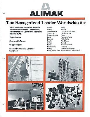Equipment Brochure - Alimak - Construction Hoists Pump Crane - C1984 E3419