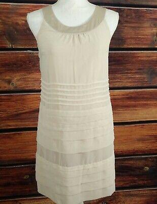 H&M Shift Dress Sleeveless Nude Layered light weight woman's dress Size 6