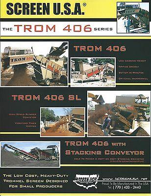 Equipment Brochure - Screen Usa - Trom 406 Series - Trommel Screen 2009 E3639