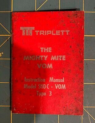 Triplett Model 310 C Vom Multi-meter Instruction Manual