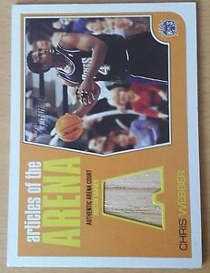 2001-02 Topps Heritage Articles of the Arena Relics #2 Chris WEBBER - France - 2001-02 Topps Heritage Articles of the Arena Relics 2 Chris WEBBER SHIPPING WORLDWIRE - France
